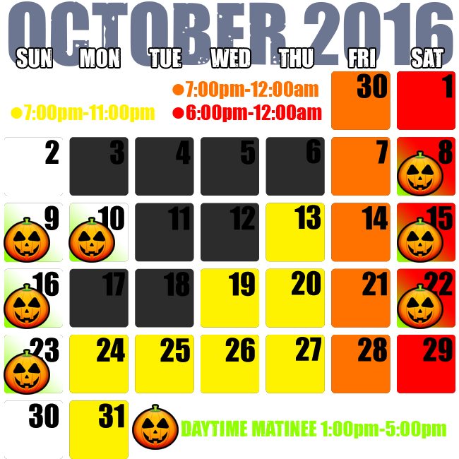 Dates & Hours of Operation